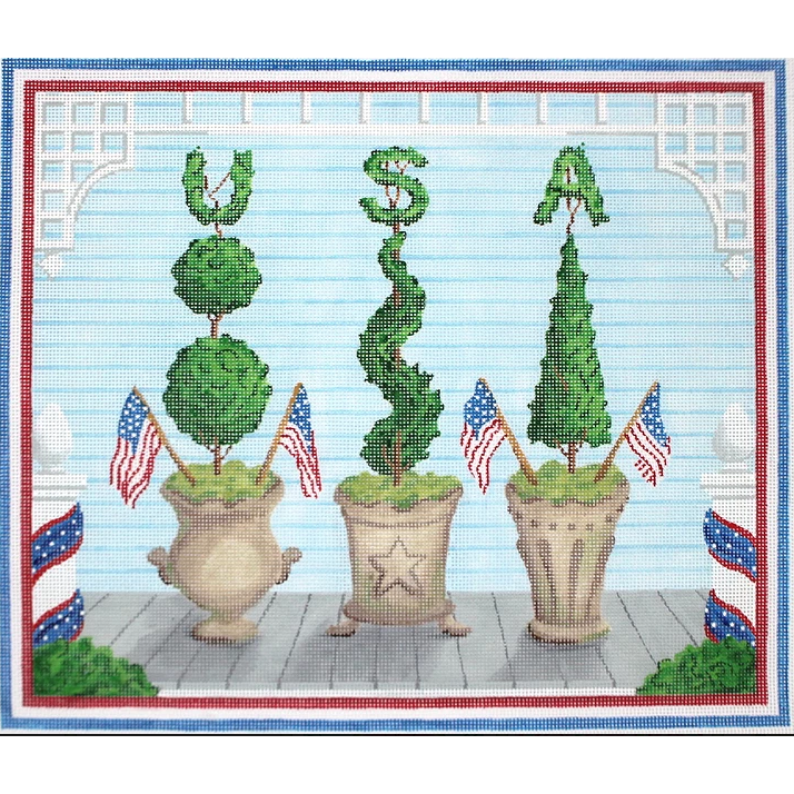 American Front Porch - Summer Canvas - KC Needlepoint