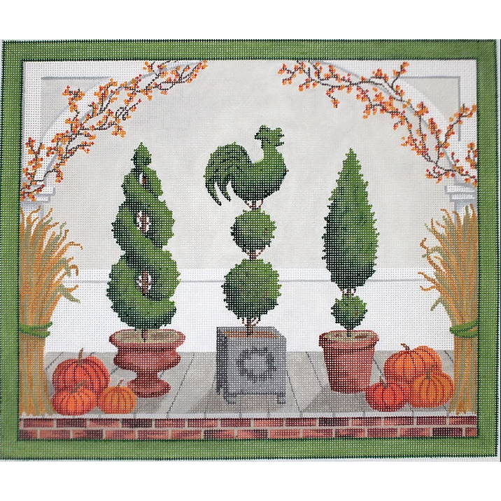 American Front Porch - Autumn Canvas - KC Needlepoint