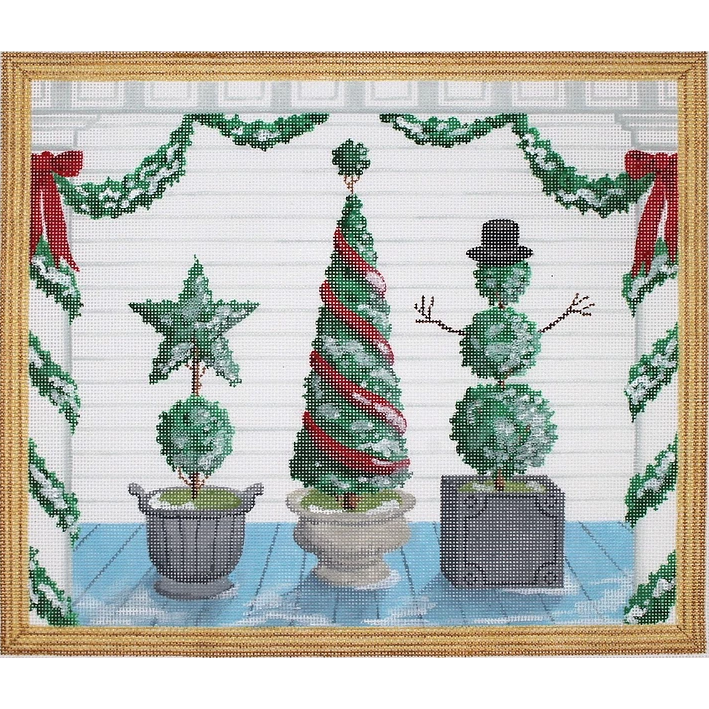 American Front Porch - Winter Canvas - KC Needlepoint