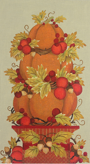 Pumpkin Topiary Needlepoint Canvas-Needlepoint Canvas-Melissa Shirley-KC Needlepoint