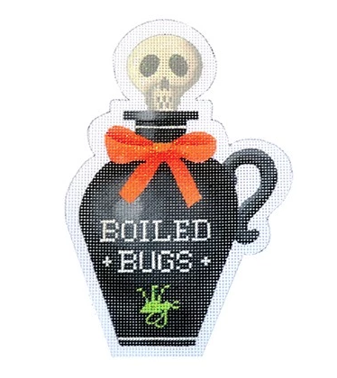 Boiled Bugs Halloween Bottle Canvas