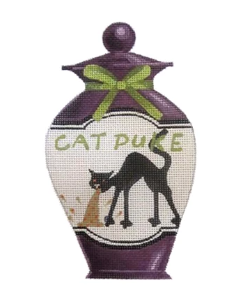Cat Puke Halloween Bottle Canvas - needlepoint
