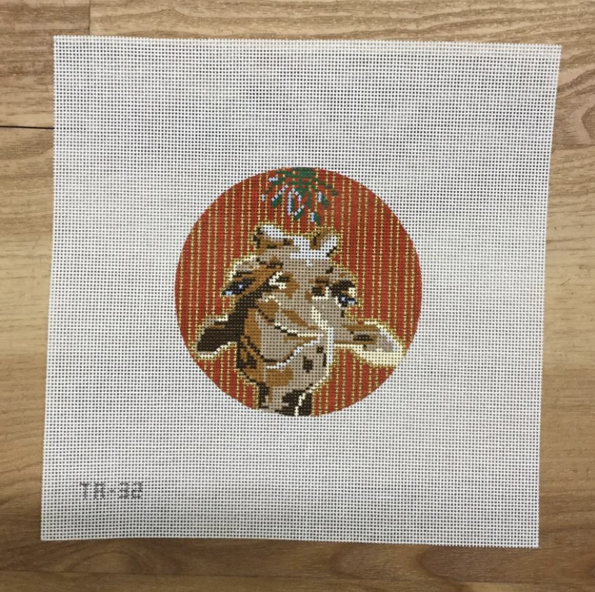 Georgia the Giraffe Needlepoint Canvas