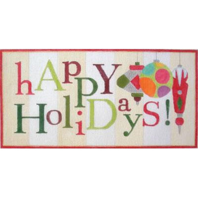 Happy Holidays Canvas-Needlepoint Canvas-Raymond Crawford-KC Needlepoint