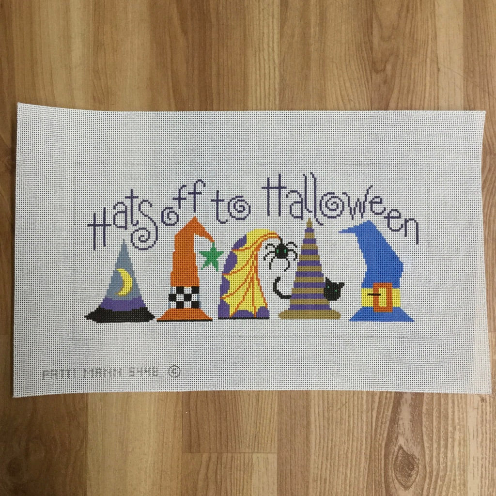 Hats Off to Halloween Canvas-Needlepoint Canvas-Patti Mann-KC Needlepoint