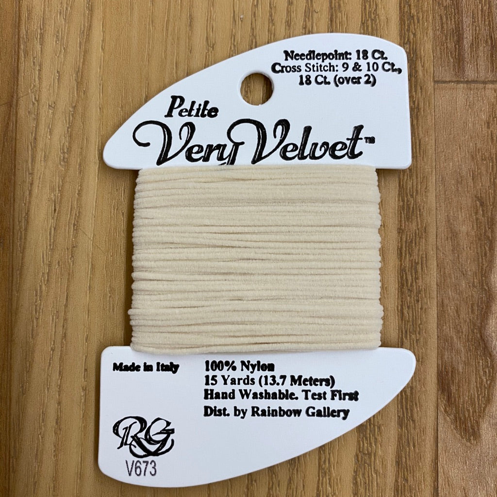 Petite Very Velvet V673 Cream - KC Needlepoint