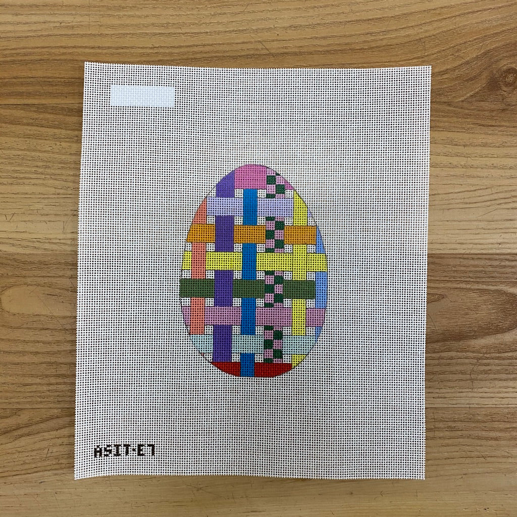 Ribbon Egg Canvas