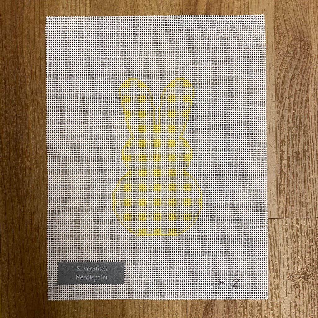 Gingham Bunny Canvas - needlepoint