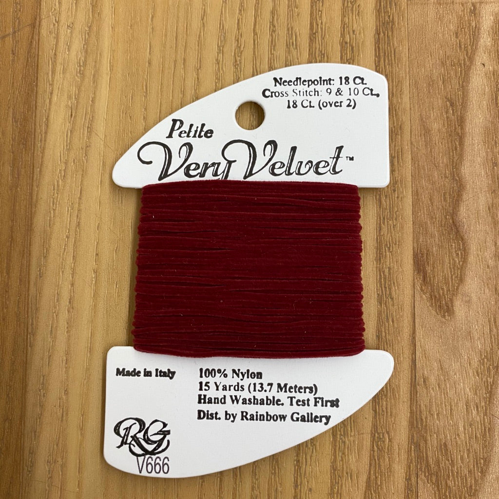 Petite Very Velvet V666 Ruby - KC Needlepoint