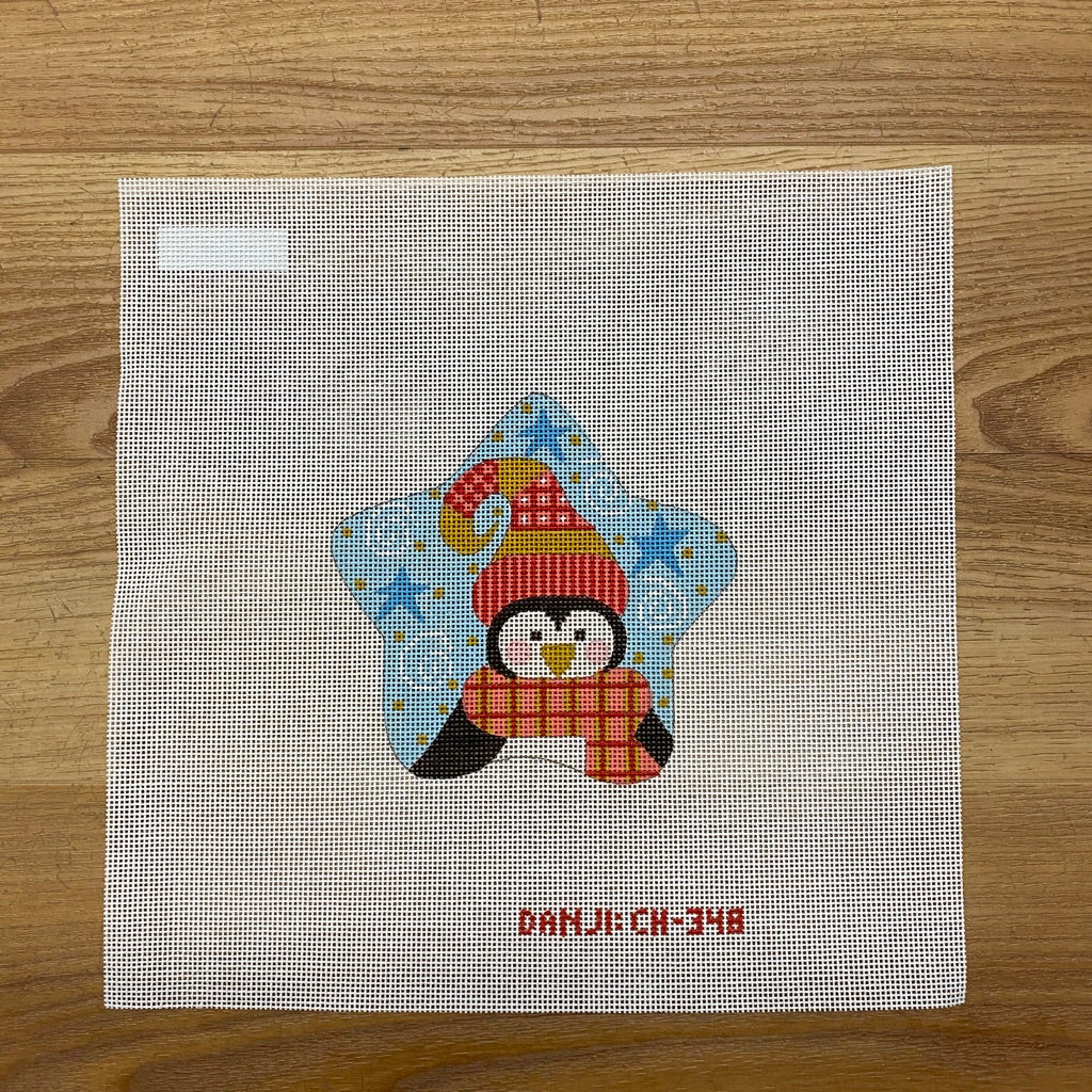 Penguin Star Canvas-Needlepoint Canvas-KC Needlepoint