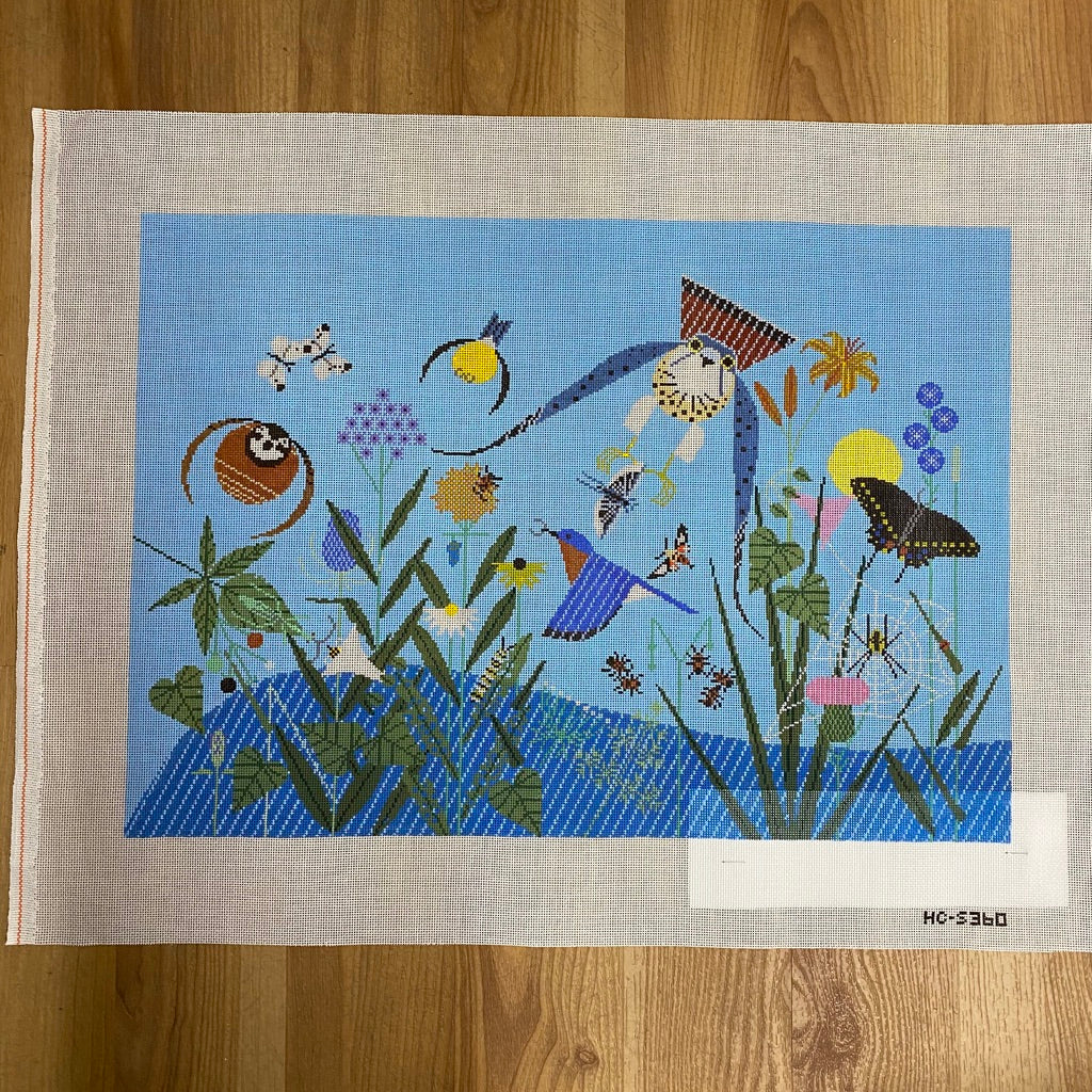 Summer Birds Canvas - KC Needlepoint