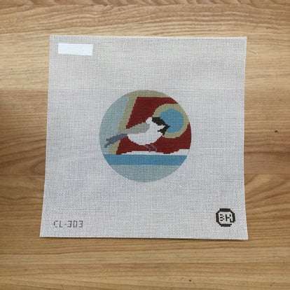 Chickadee House Canvas - KC Needlepoint