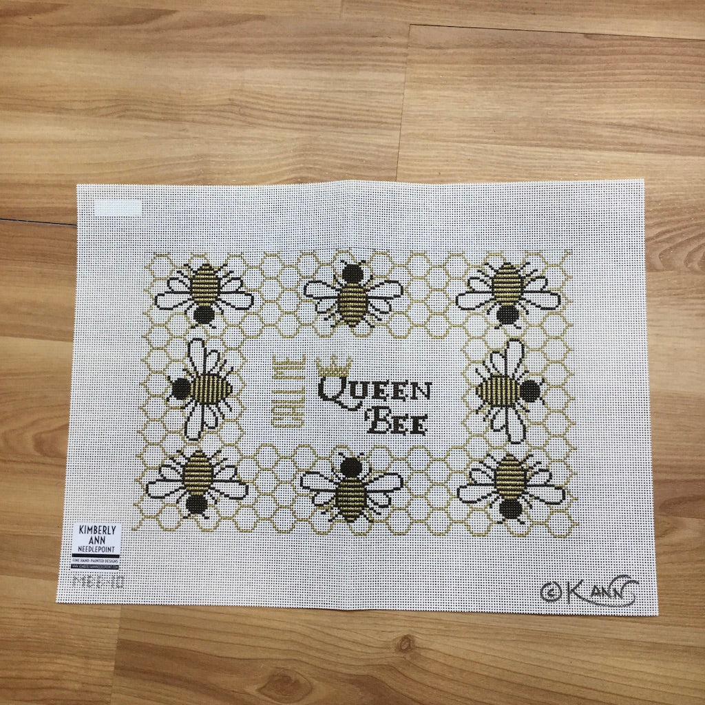 Queen Bee Canvas-Needlepoint Canvas-Kimberly Ann Needlepoint-KC Needlepoint
