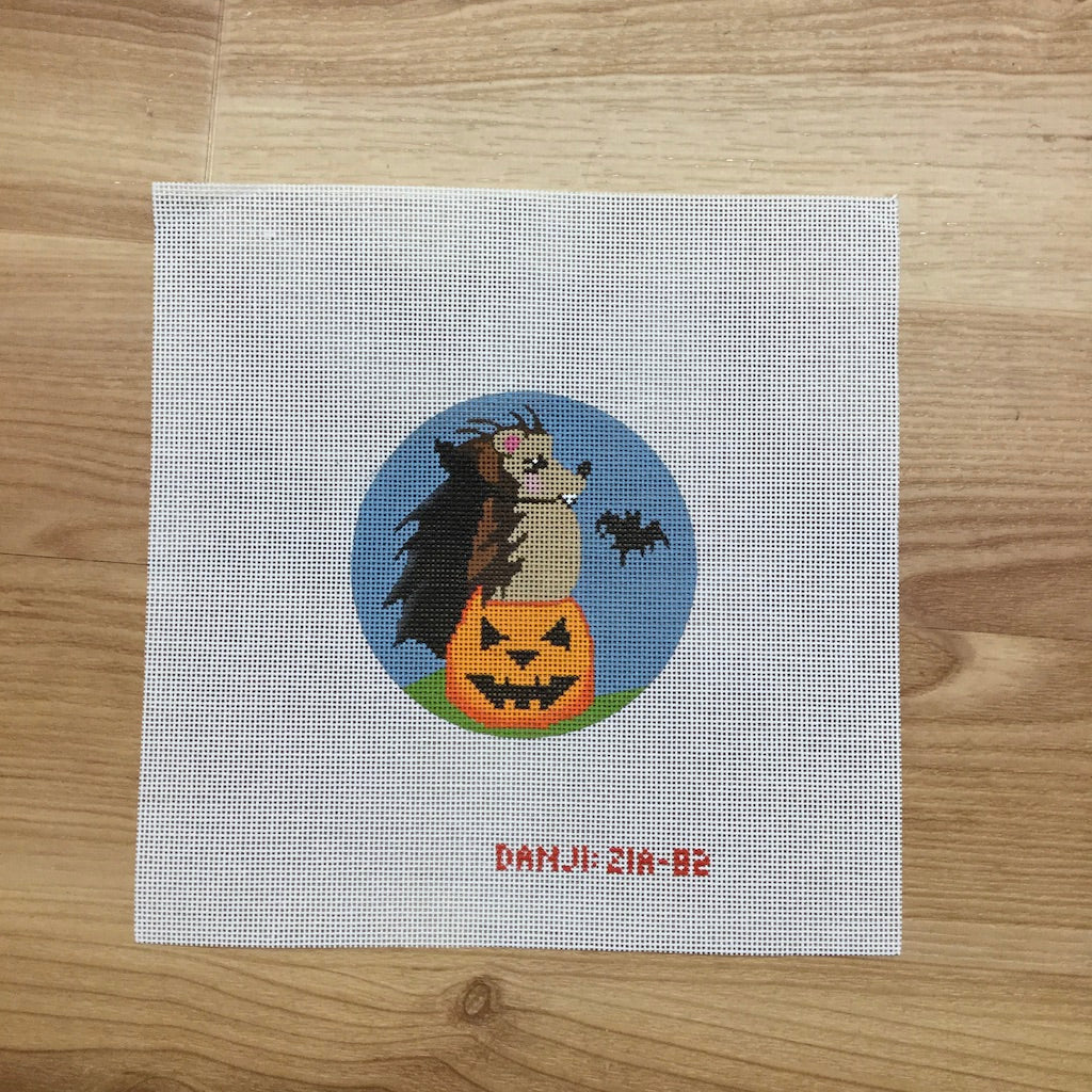 Dracula Hedgehog Canvas-Needlepoint Canvas-Danji Designs-KC Needlepoint