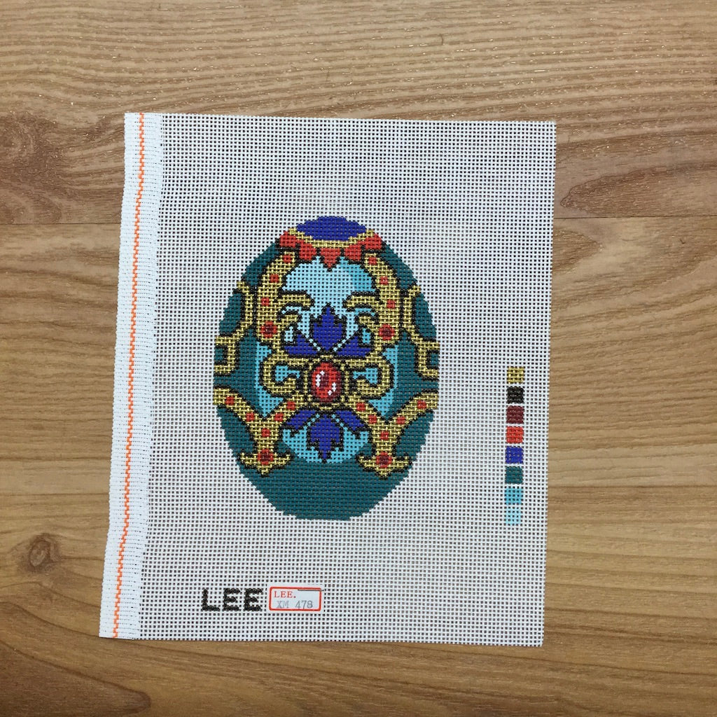 Teal Faberge Egg Canvas