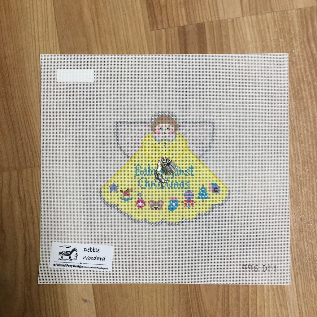 Baby's 1st Christmas Angel Canvas - needlepoint