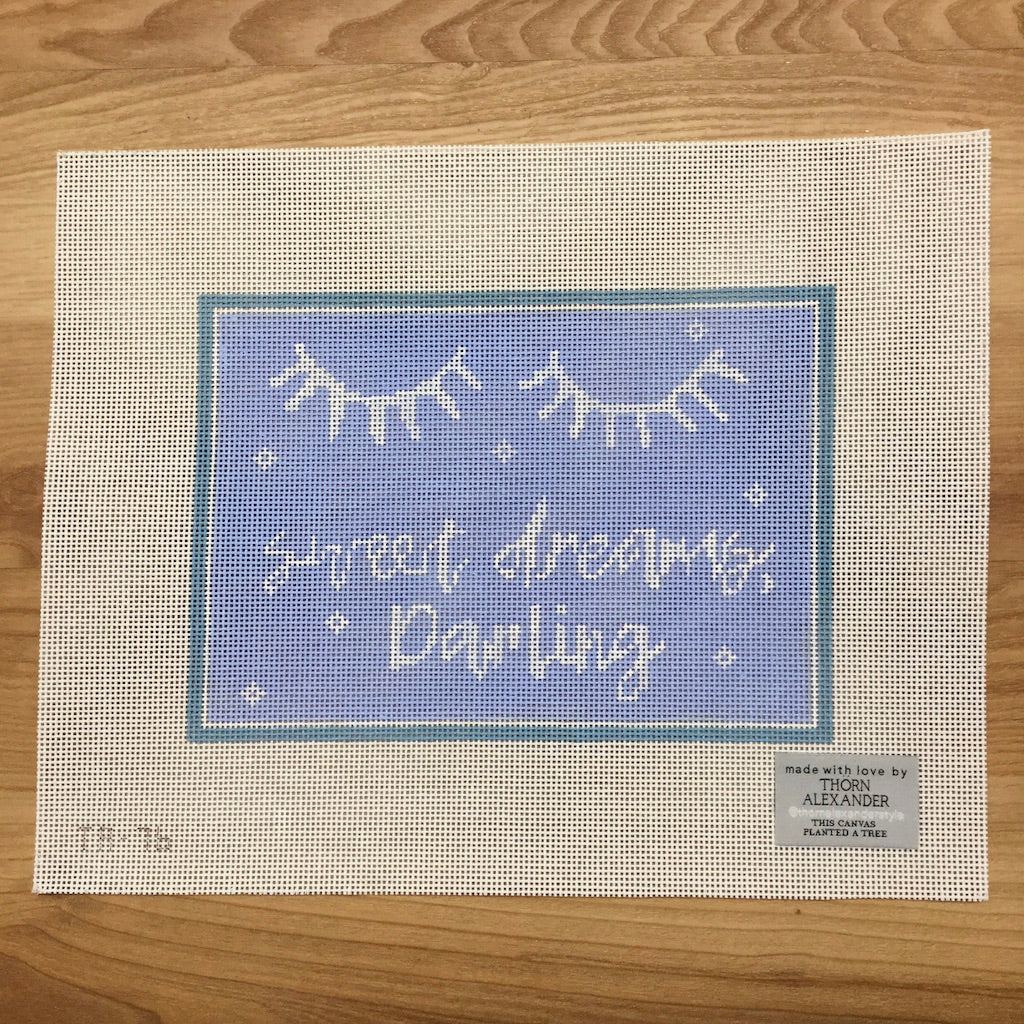 Sweet Dreams Darling Canvas-Needlepoint Canvas-Thorn Alexander-KC Needlepoint