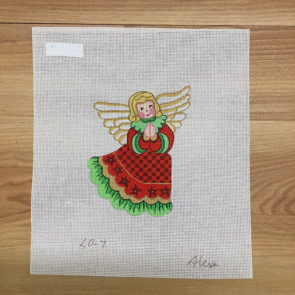 Angel Ornament Canvas-Needlepoint Canvas-Alexa Needlepoint Designs-KC Needlepoint