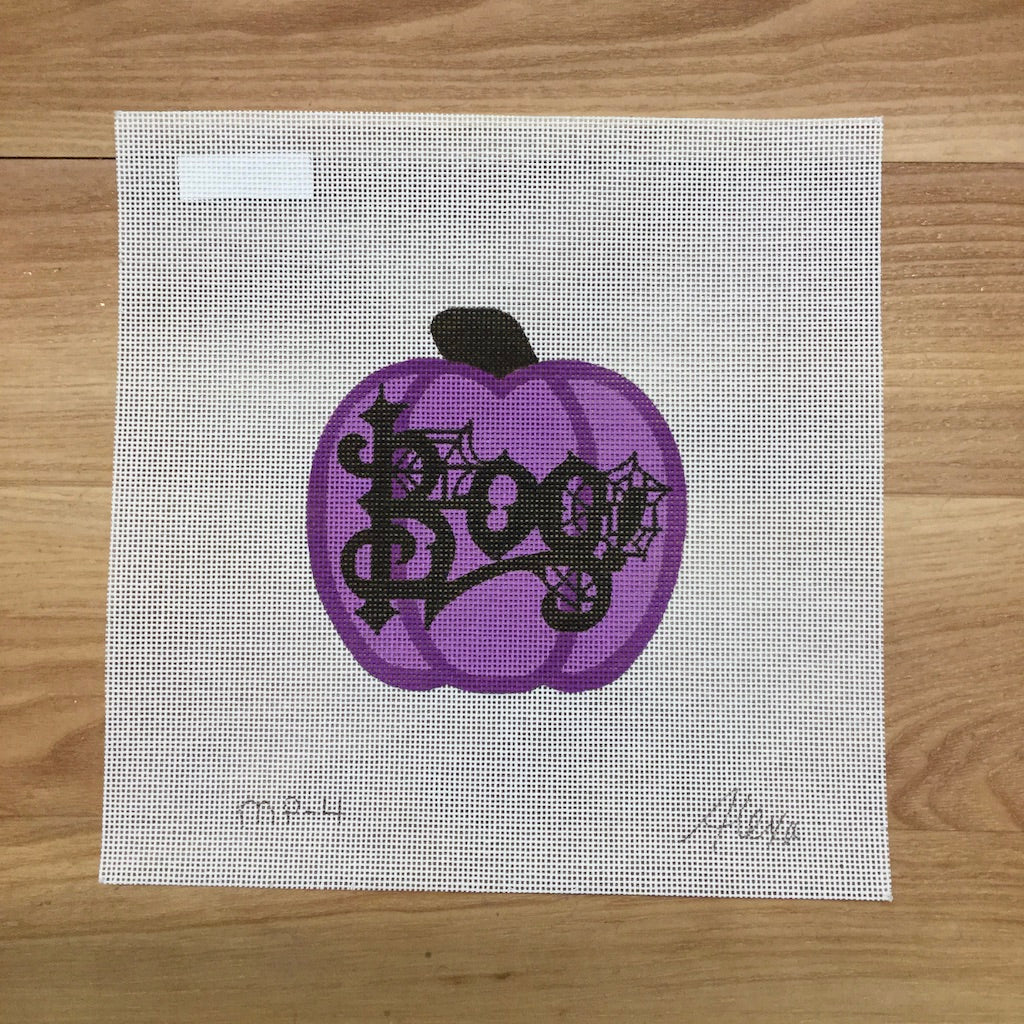 Boo Pumpkin Canvas-Needlepoint Canvas-Alexa Needlepoint Designs-KC Needlepoint