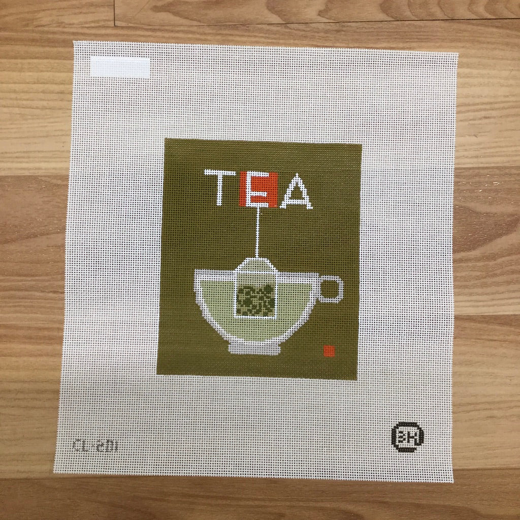 Tea Needlepoint Canvas - KC Needlepoint