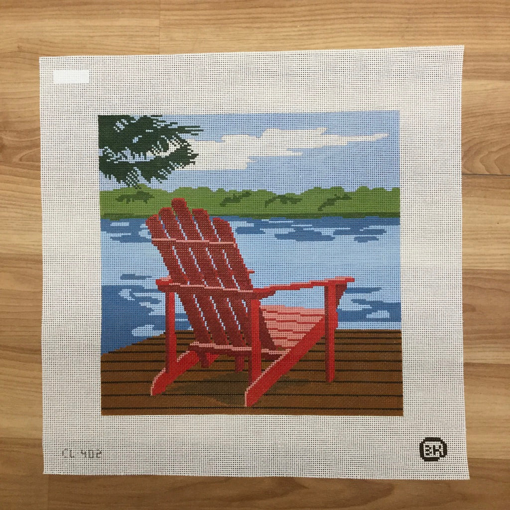 Adirondack Chair Needlepoint Canvas - KC Needlepoint