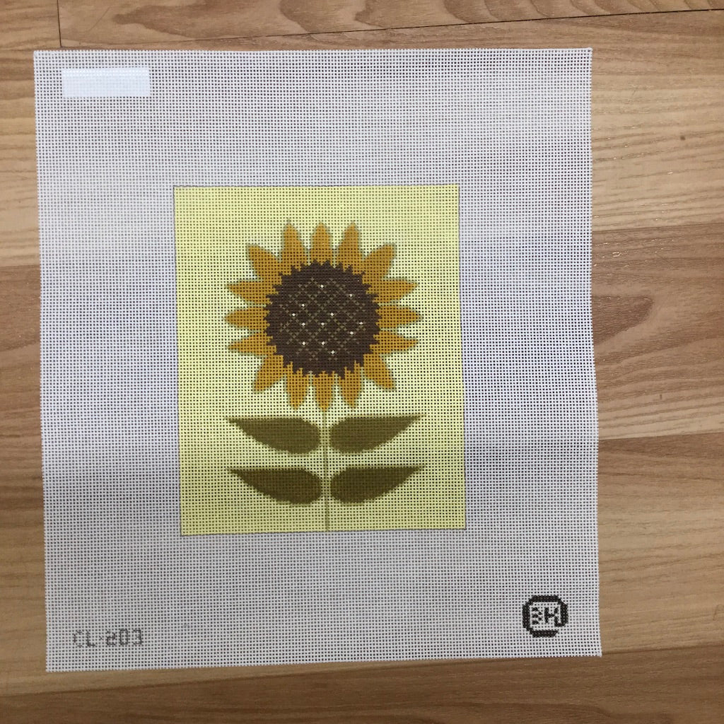 Sunflower Needlepoint Canvas - KC Needlepoint