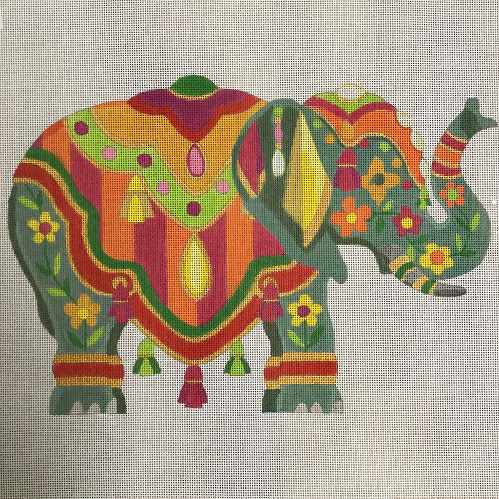Exotic Elephant Canvas-Needlepoint Canvas-Raymond Crawford-KC Needlepoint
