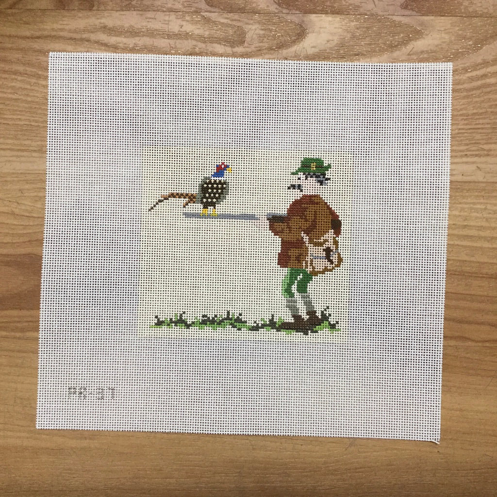 The Huntsman Canvas-Needlepoint Canvas-Pip and Roo Needleworks-KC Needlepoint