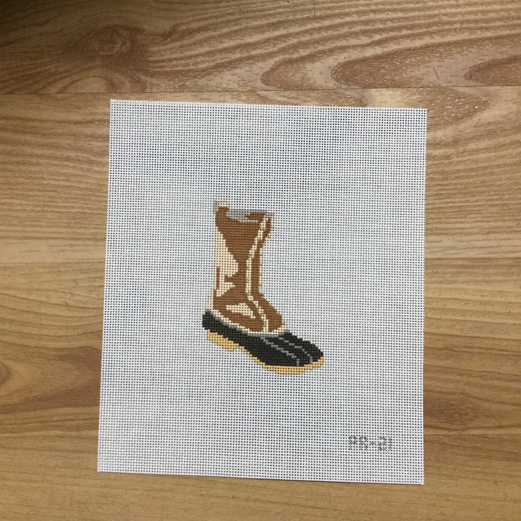 Duck Boot Canvas-Needlepoint Canvas-Pip and Roo Needleworks-KC Needlepoint