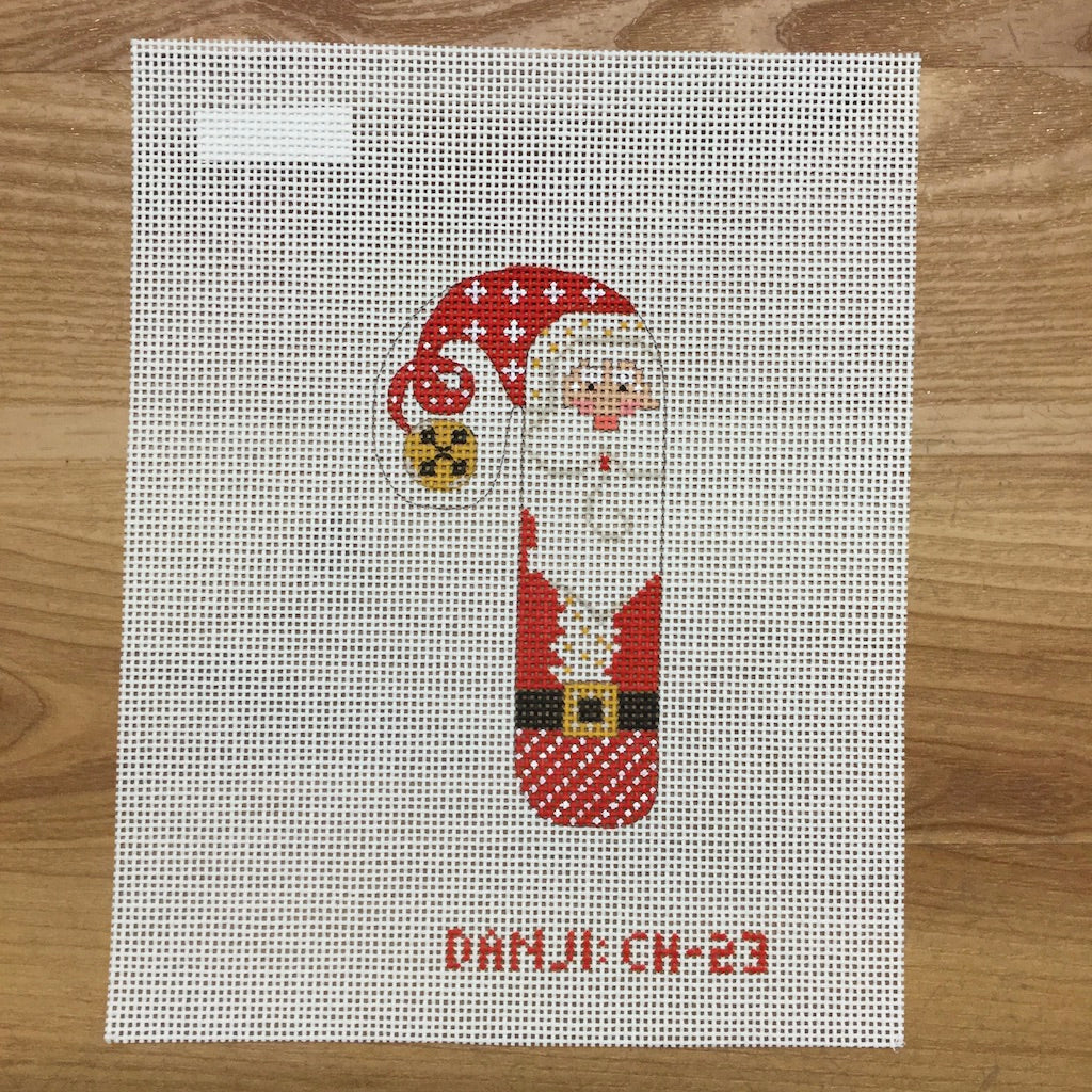 Santa Candy Cane Canvas - needlepoint
