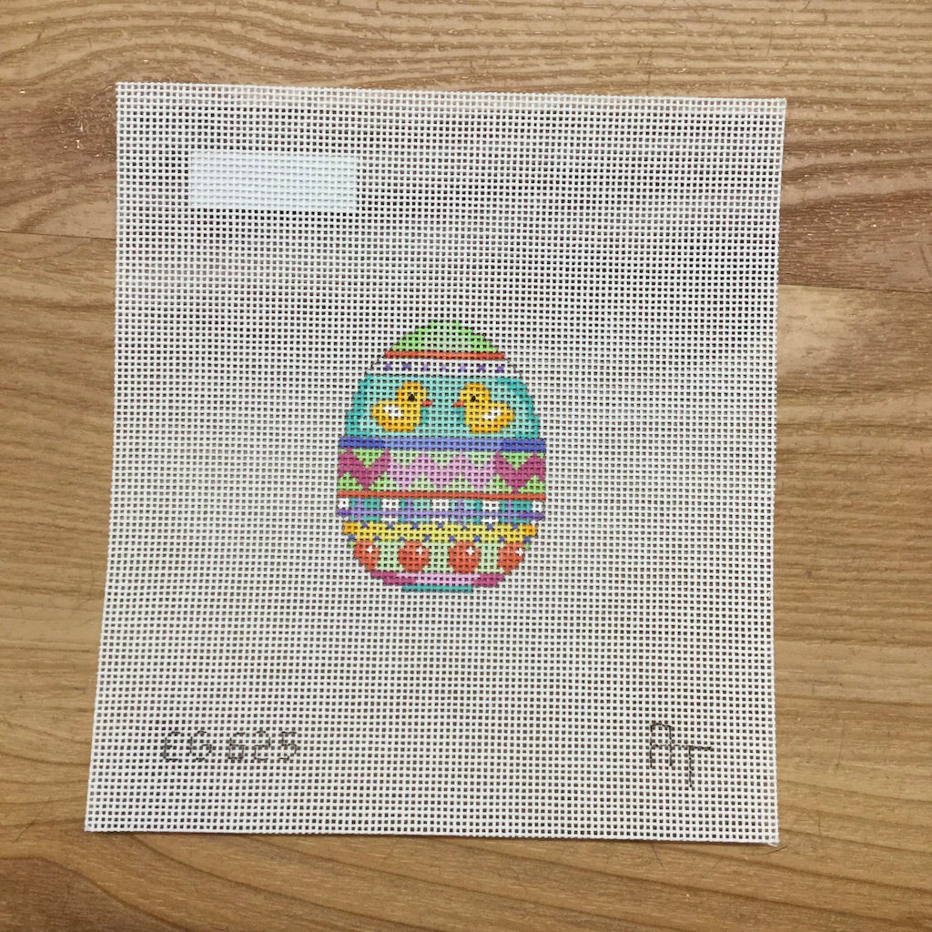 Two Ducks Mini Egg Canvas - needlepoint