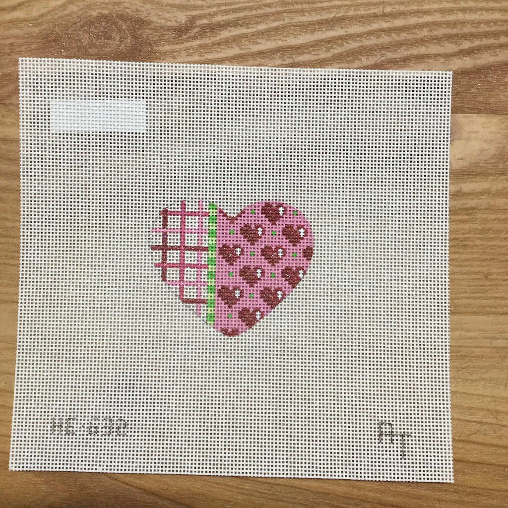 Tattersall Hearts Mini Heart Canvas-Needlepoint Canvas-Associated Talents-KC Needlepoint