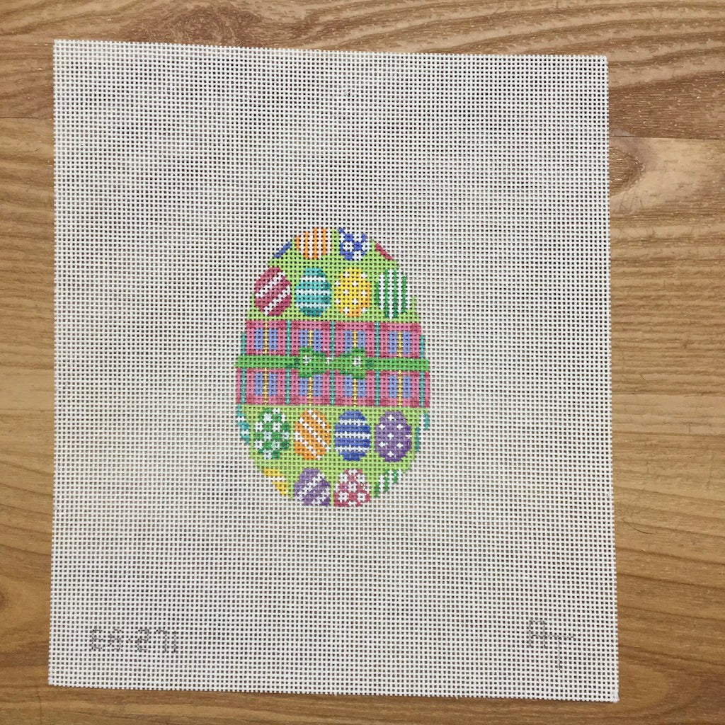 Multi Colored Eggs Egg Canvas - needlepoint