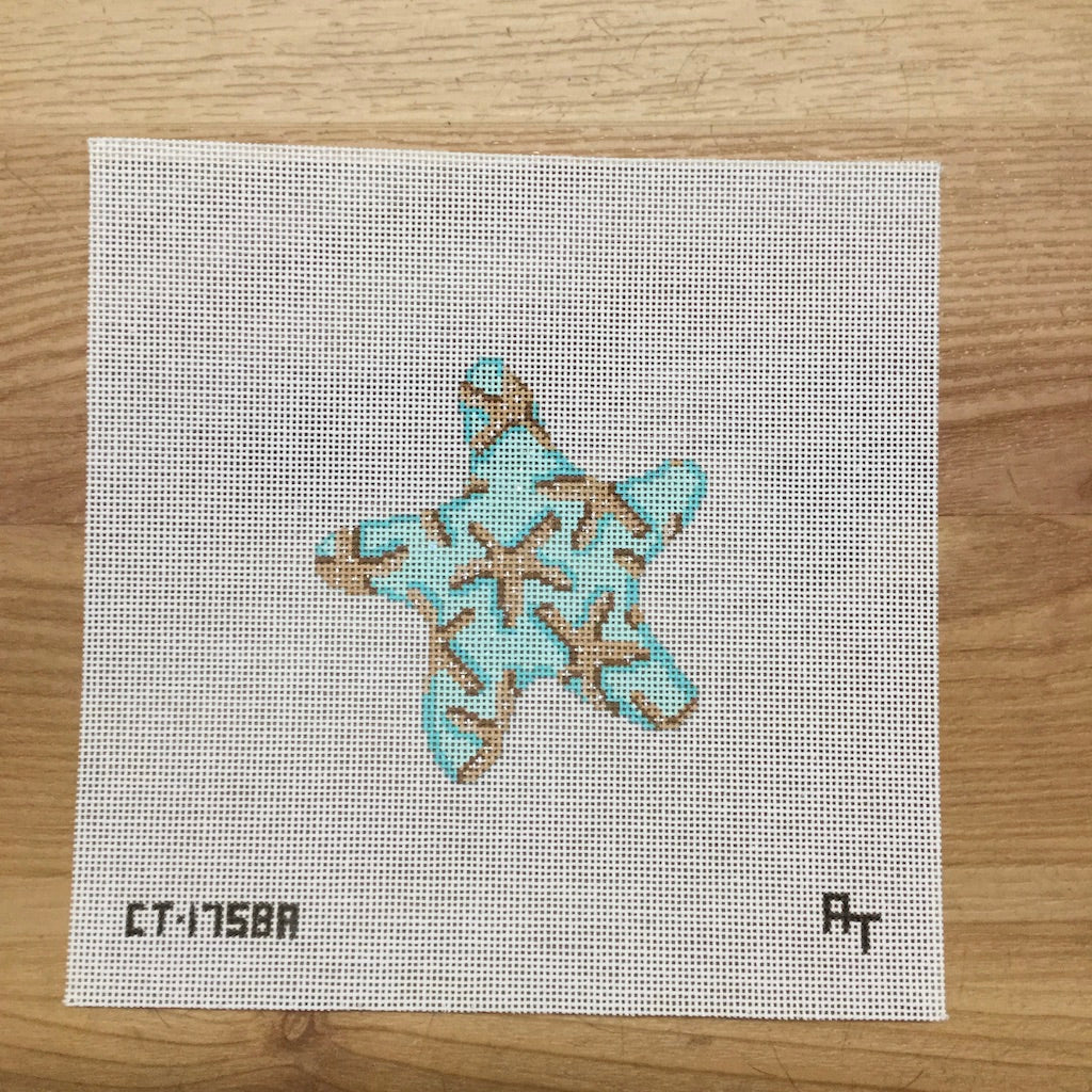 Starfish Canvas - needlepoint