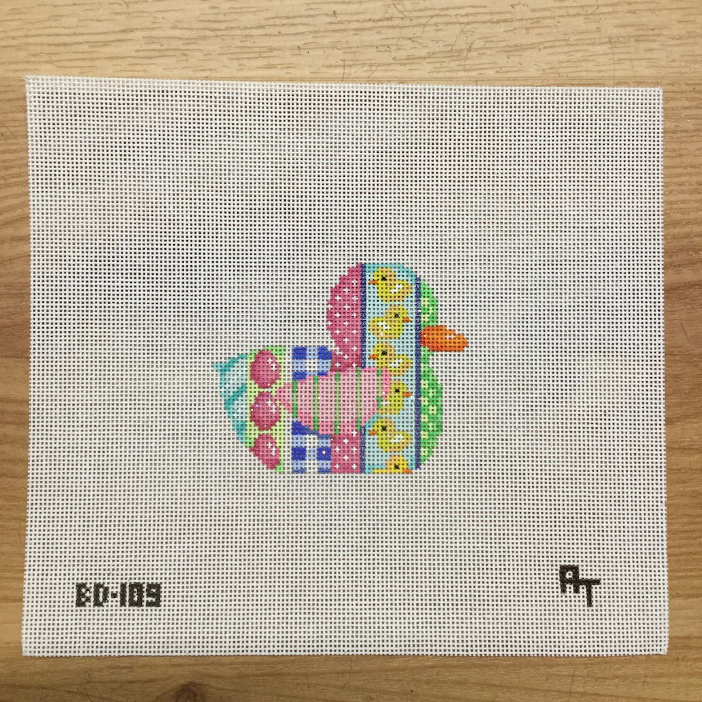Duck with Ducks Canvas-Needlepoint Canvas-Associated Talents-KC Needlepoint