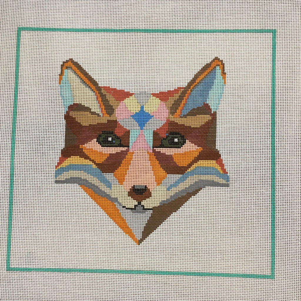Wily Fox Canvas - KC Needlepoint