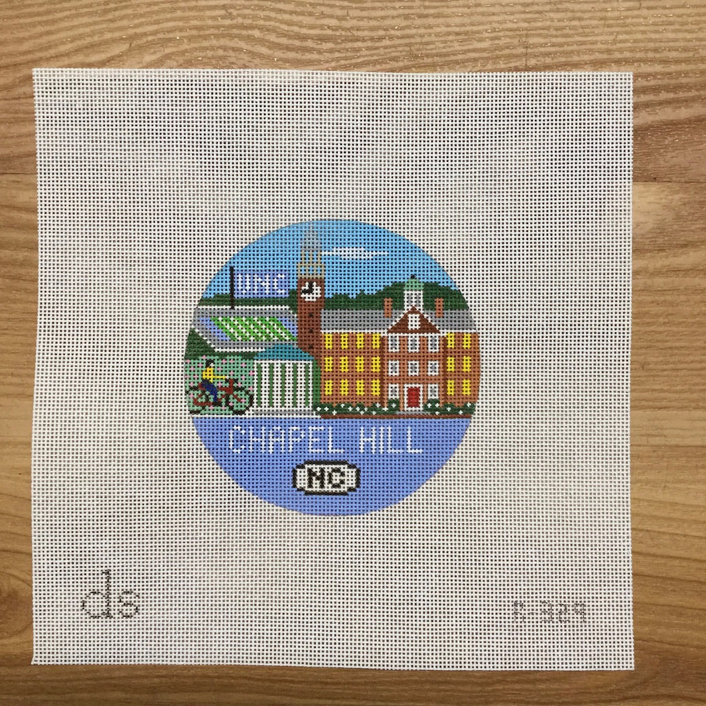 Chapel Hill Travel Round Canvas-Needlepoint Canvas-Doolittle Stitchery-KC Needlepoint