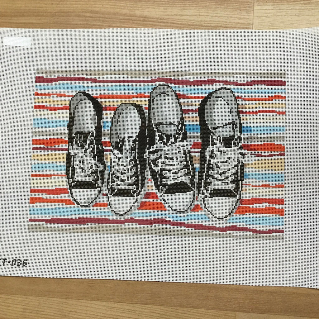 Converse Sneakers Canvas-Needlepoint Canvas-Pippin-KC Needlepoint