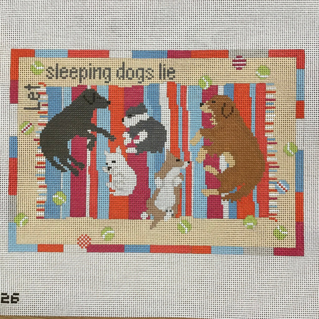 Let Sleeping Dogs Lie Canvas - needlepoint