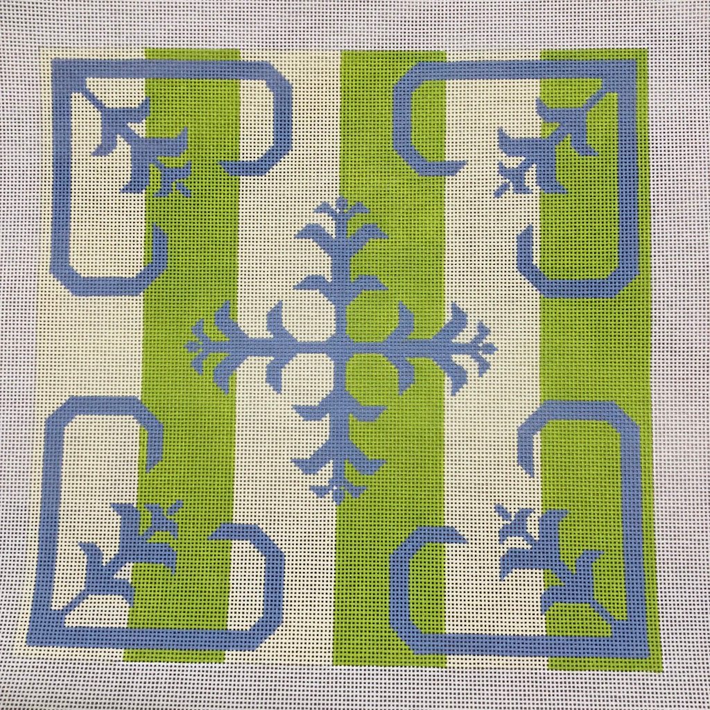 Stripe Scroll Needlepoint Canvas-Needlepoint Canvas-J. Child Designs-KC Needlepoint
