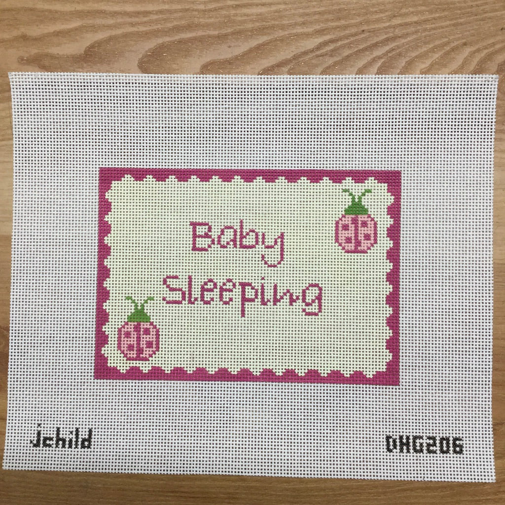Ladybug Baby Sleeping Canvas-Needlepoint Canvas-J. Child Designs-KC Needlepoint