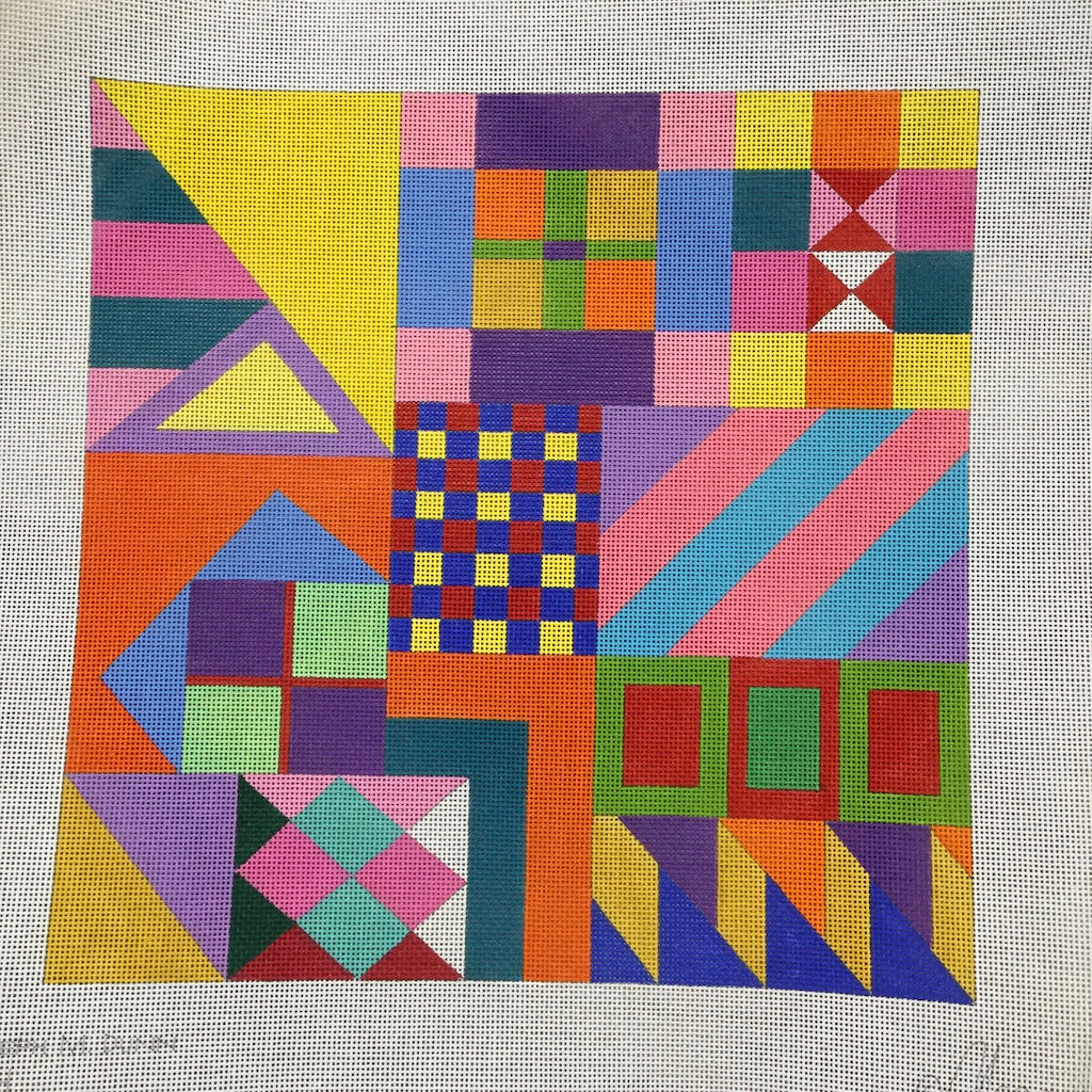 Joseph #9 Geometric Canvas-Needlepoint Canvas-Maggie Co.-KC Needlepoint