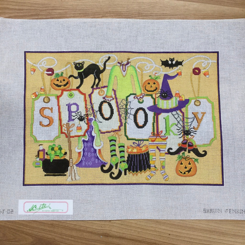 Spooky Needlepoint Canvas-Needlepoint Canvas-Strictly Christmas-KC Needlepoint
