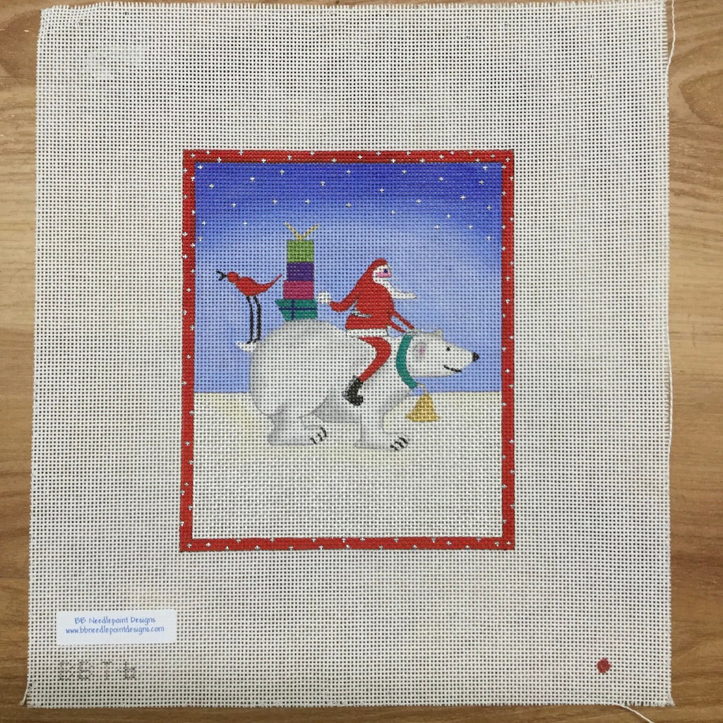Frosty and Santa Canvas-Needlepoint Canvas-BB Needlepoint Designs-KC Needlepoint