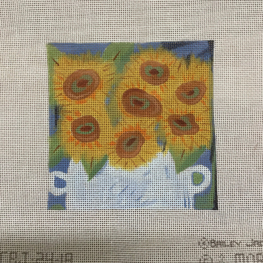 Sunflowers in Vase Canvas-Needlepoint Canvas-& More-KC Needlepoint