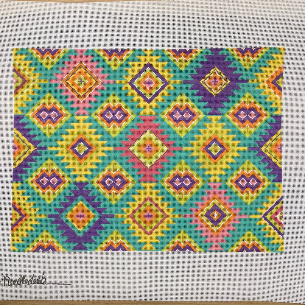 Bright Southwest Geometric Canvas-Needlepoint Canvas-Chris Lewis-KC Needlepoint