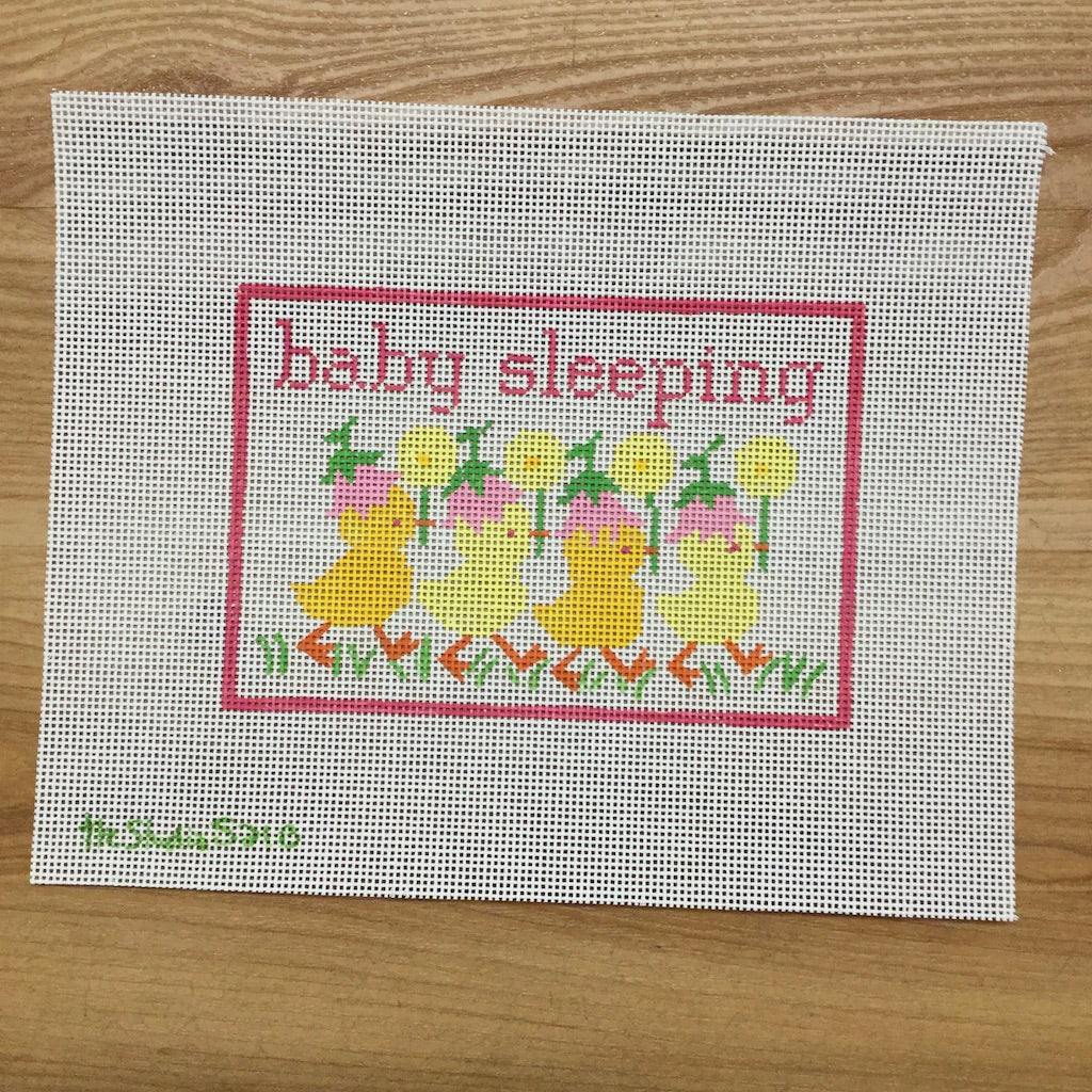 Chicks Baby Sleeping Canvas-Needlepoint Canvas-Studio Midwest-KC Needlepoint