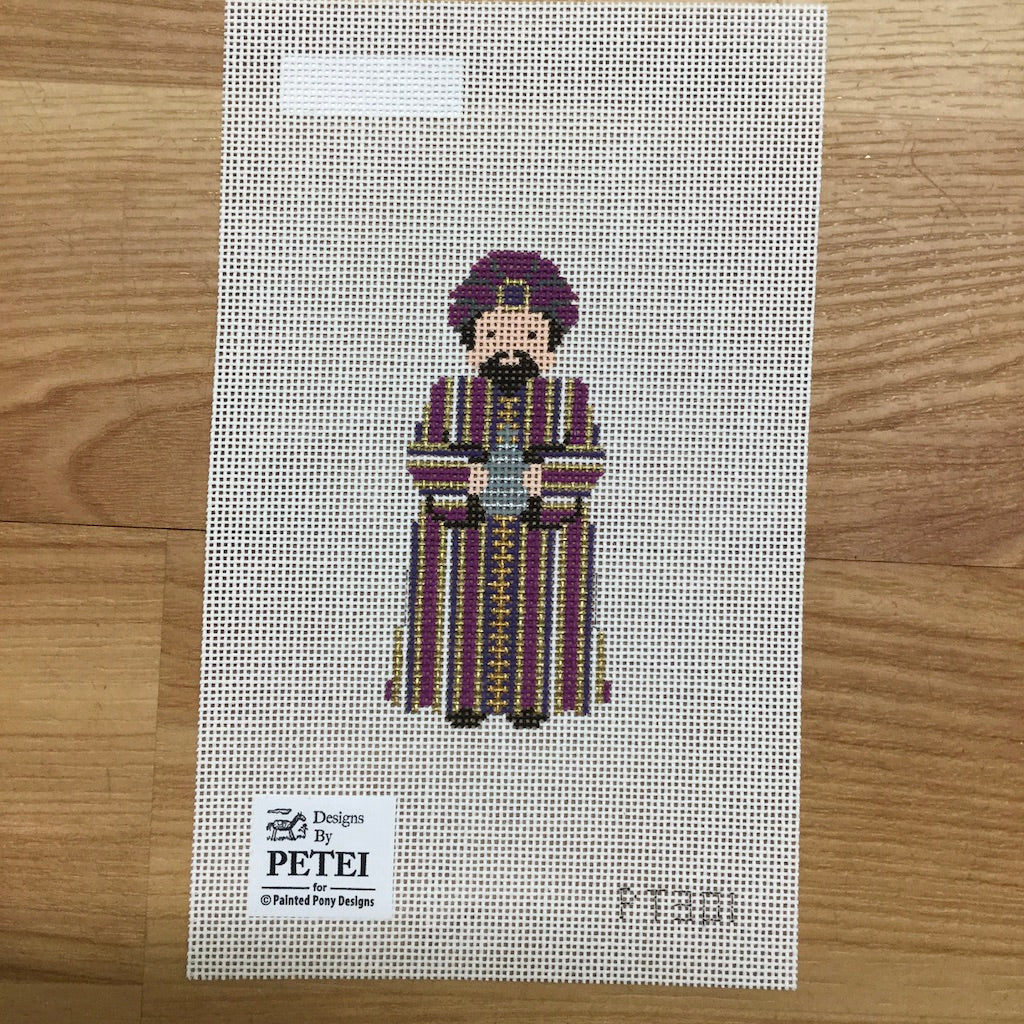 Nativity Piece Purple Wiseman Canvas