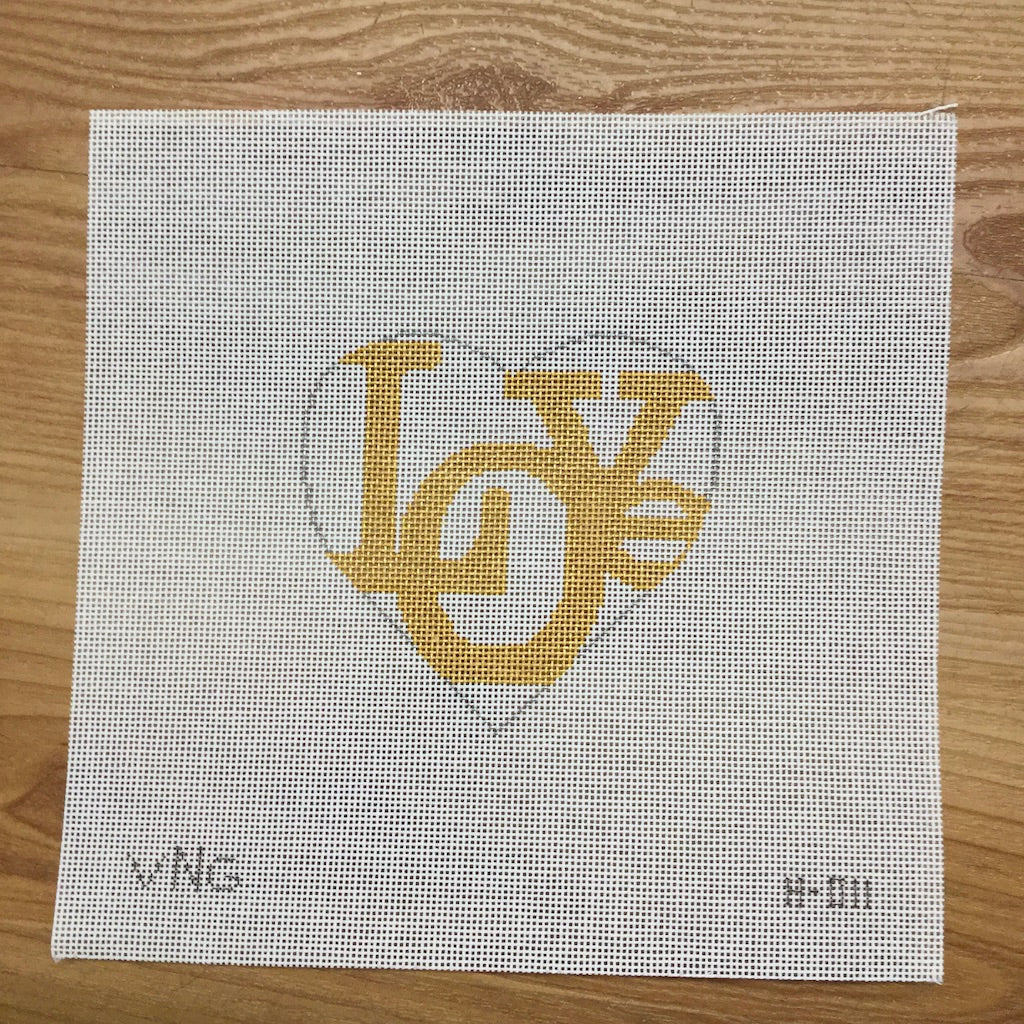 Gold Love Heart Canvas