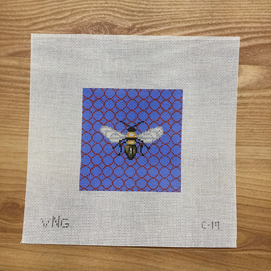 Bee Coaster Canvas-Vallerie Needlepoint-KC Needlepoint